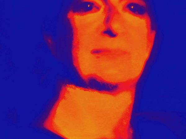 Liechtenstein Digital Art - Self Portrait On Fire For The Future by Carolina Liechtenstein