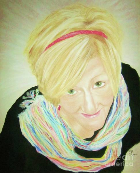 Pastel - Self-portrait by Patsy Gunn