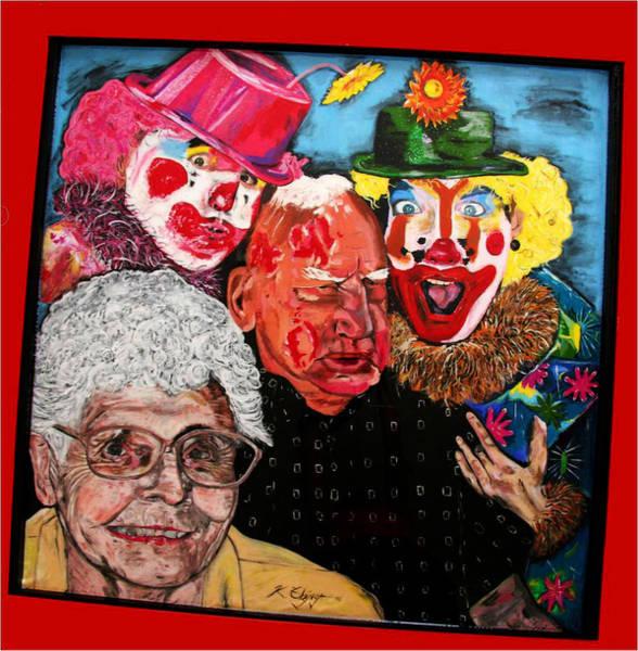 Wall Art - Painting - Send In The Clowns by Karen Elzinga