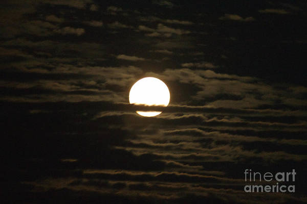 Photograph - Seneca Lake Moon by William Norton