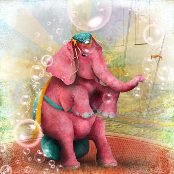 Wall Art - Digital Art - Senora Beatriz El Elefante Rosa by Jessica Von Braun
