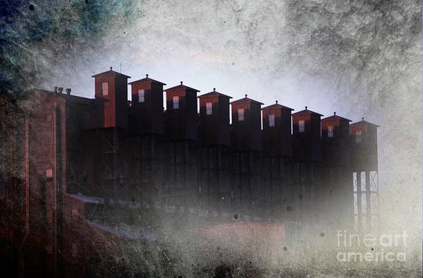 Grain Elevator Photograph - Sentries by The Stone Age