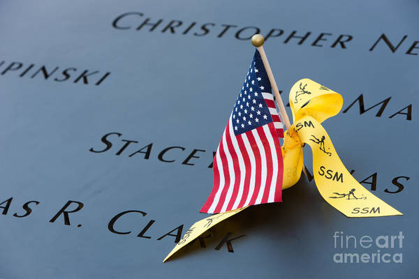 Photograph - September 11 Memorial Flag I by Clarence Holmes
