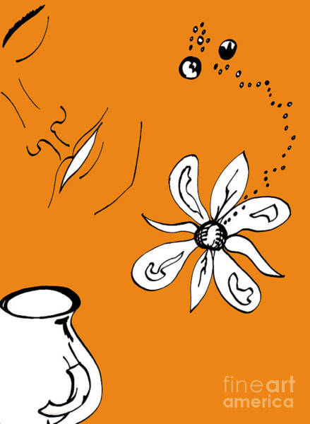 Digital Art - Serenity In Orange by Mary Mikawoz