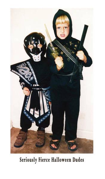 Photograph - Seriously Fierce Halloween Dudes by Lorraine Devon Wilke