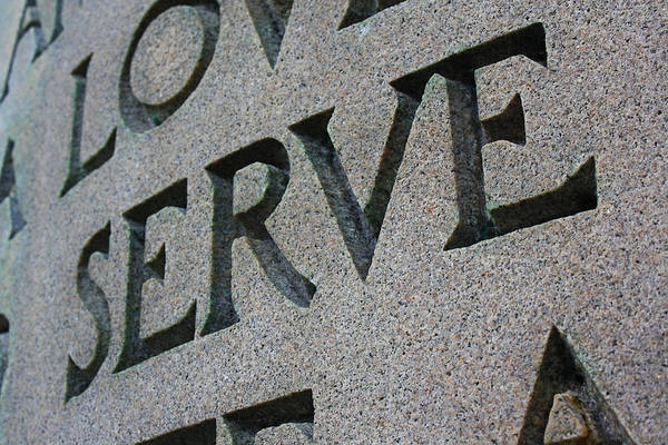 Serve Digital Art - Serve In Stone by Geoff Strehlow