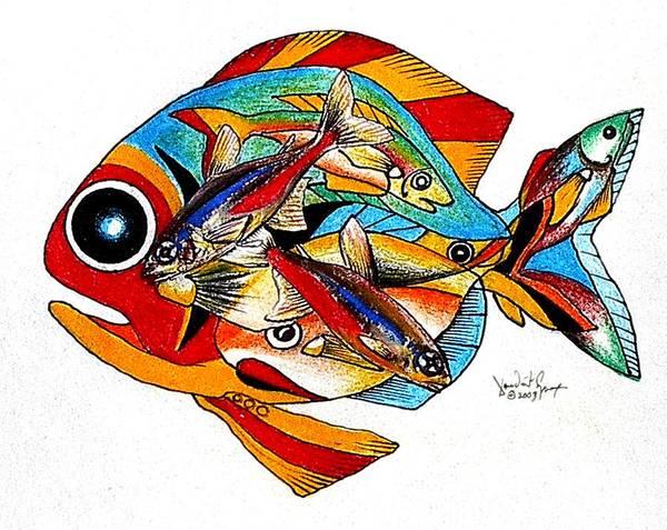 Seven Fish Art Print