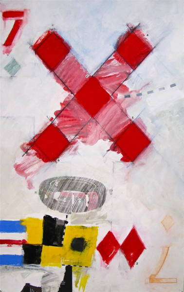 Painting - Seven Of Diamonds 4-52 by Cliff Spohn