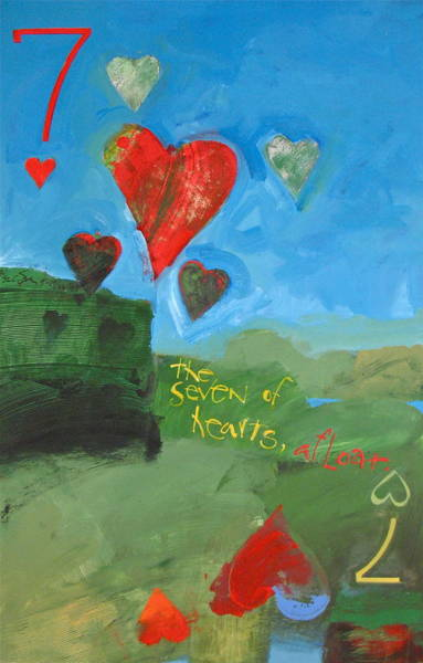 Painting - Seven Of Hearts 38-52 by Cliff Spohn