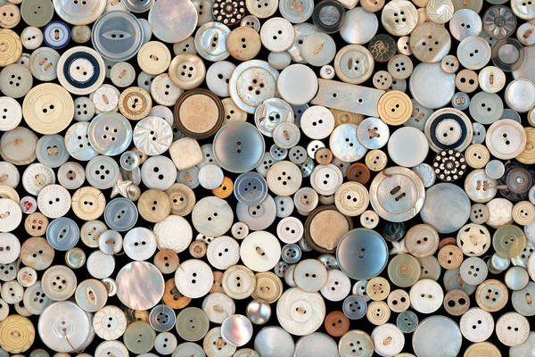 Photograph - Sewing - Buttons - Lots Of White Buttons by Mike Savad