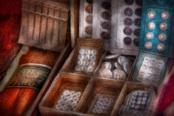 Photograph - Sewing - Fresh Buttons For Sale  by Mike Savad
