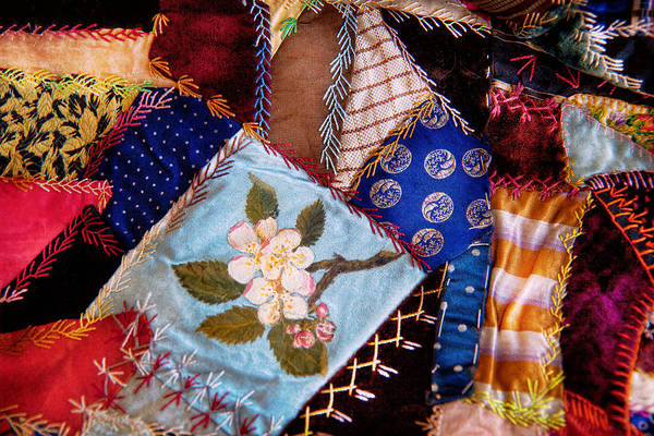 Photograph - Sewing - Patchwork - Grandma's Quilt  by Mike Savad