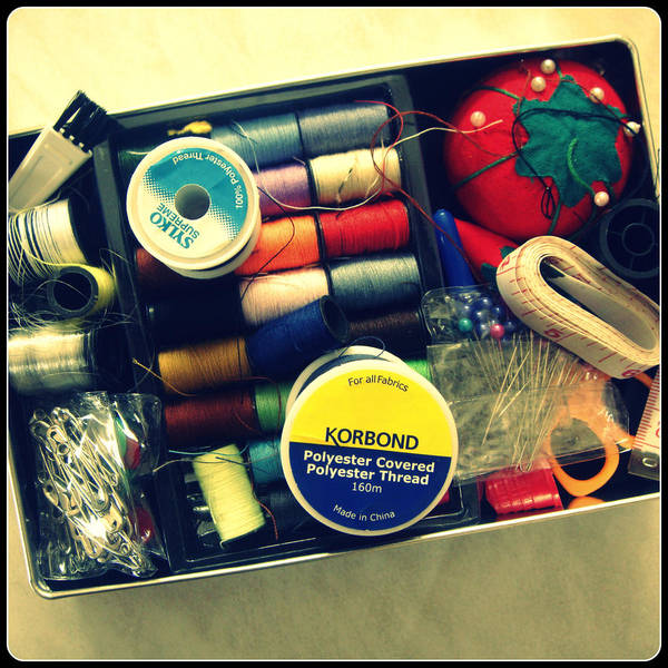 Photograph - Sewing Box by Roberto Alamino