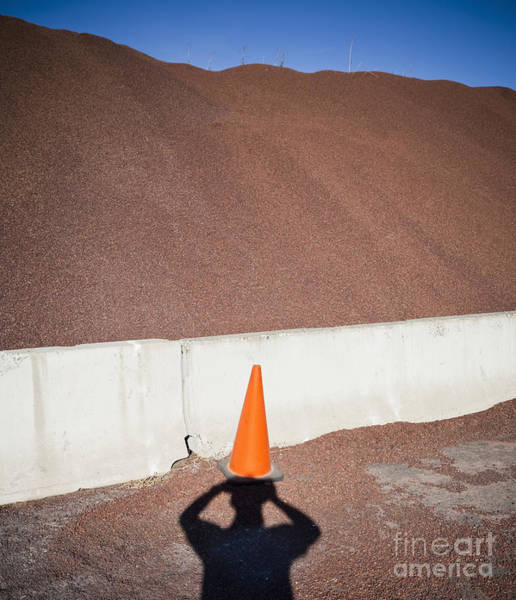 Orange Wall Art - Photograph - Shadow Of A Photographer Taking Picture by Paul Edmondson
