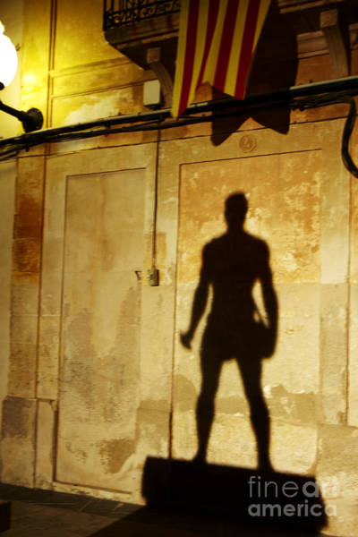 Photograph - Shadow Wall Statue by Agusti Pardo Rossello