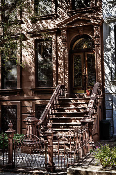 Photograph - Shadows Play On Brownstone  by Val Black Russian Tourchin