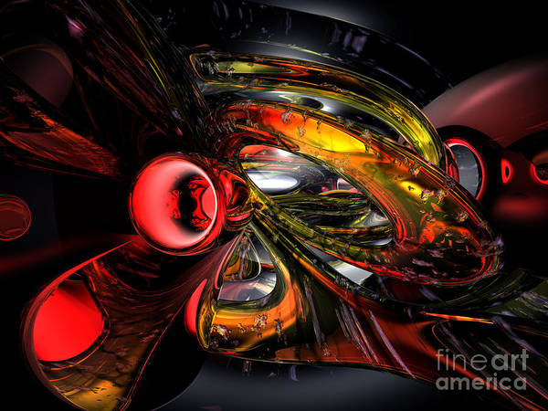 Wall Art - Digital Art - Shadowy Color Abstract by Alexander Butler
