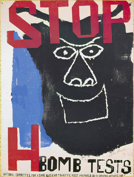 Photograph - Shahn: Anti-nuclear Poster by Granger