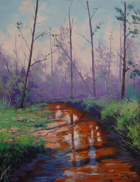 Reflections Painting - Shallow Stream by Graham Gercken