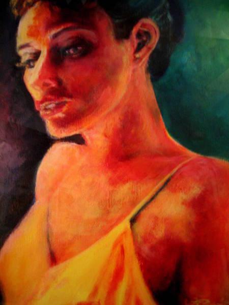 Painting - Shandra In Yellow by Jason Reinhardt