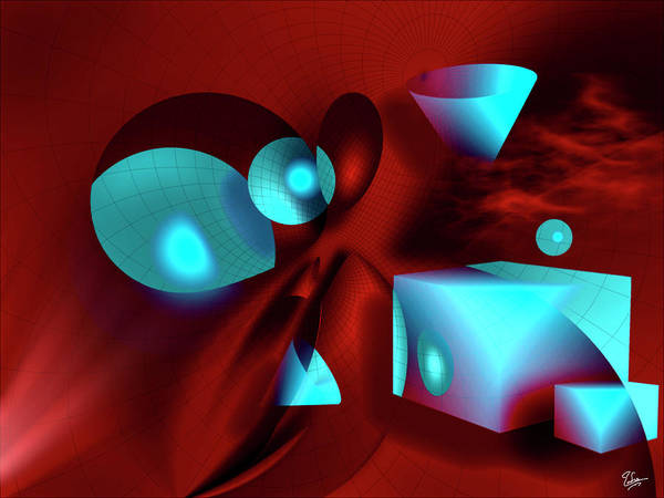 Digital Art - Shapes by Endre Balogh