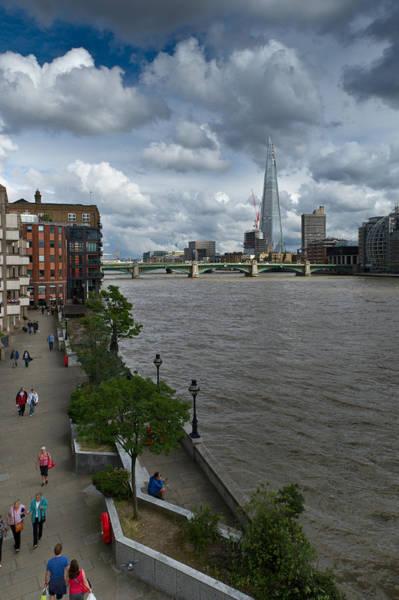 Photograph - Shard London Pedestrians by Gary Eason
