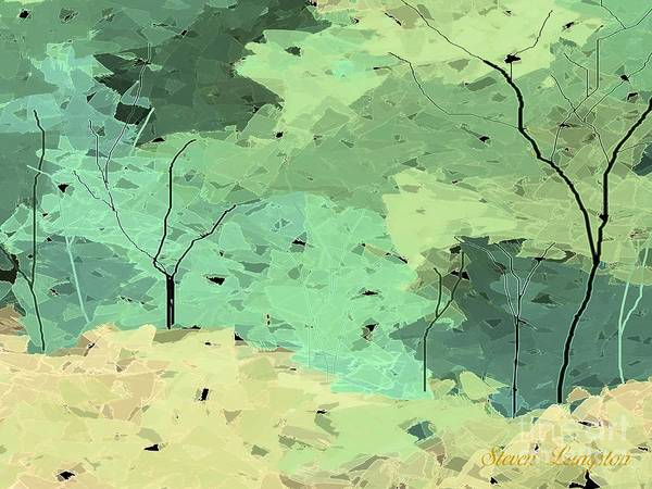 Wall Art - Painting - Shattered Forest by Steven Lebron Langston