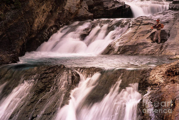 Triple Falls Photograph - Sheep River Alberta by Bob Christopher