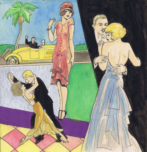 Flappers Drawing - Sheet Music 1 by Mel Thompson
