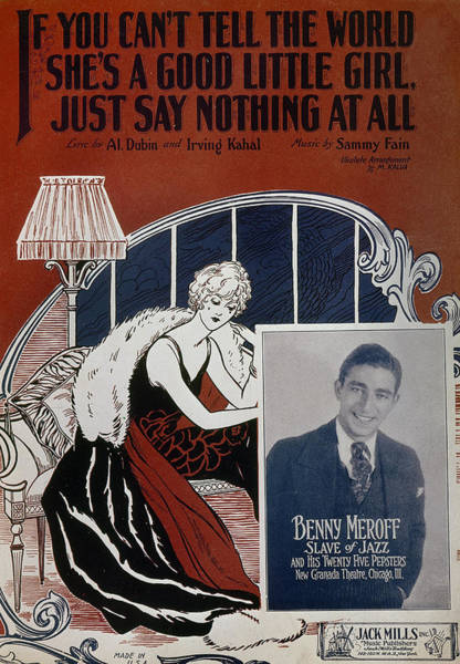 Photograph - Sheet Music Cover, 1926 by Granger