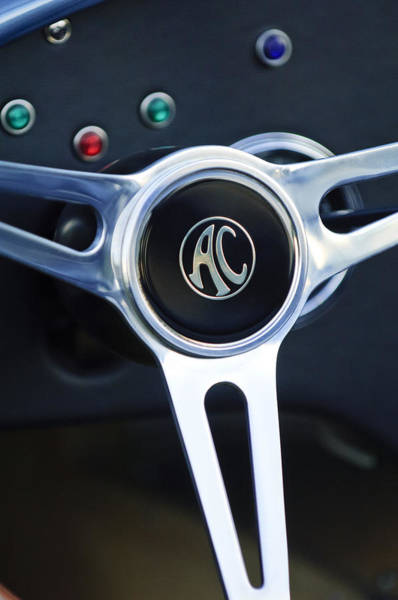 Photograph - Shelby Ac Cobra Steering Wheel 4 by Jill Reger