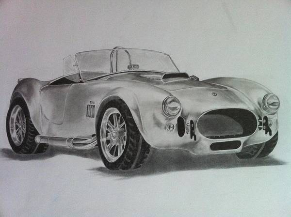 Cobra Drawing - Shelby Cobra by Aaron Mayfield