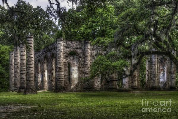 Photograph - Sheldon Church Ruins by David Waldrop