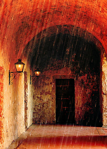Photograph - Shelter From The Rain At Mission Concepcion by Sarah Broadmeadow-Thomas