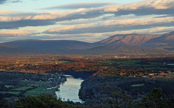 Photograph - Shenandoah November Skies by Lara Ellis