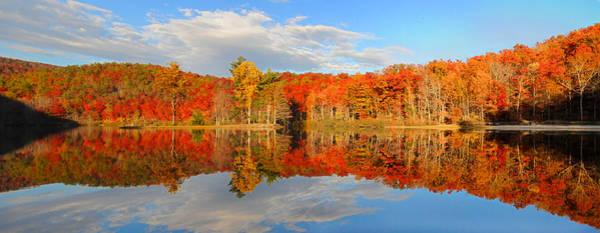 Photograph - Sherando Lake Fall Panorama by Lynn Bauer