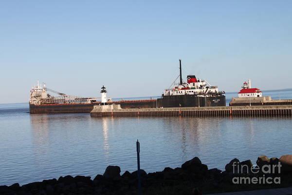 Wall Art - Photograph - Ship At Lake Superior Mn by Lori Tordsen