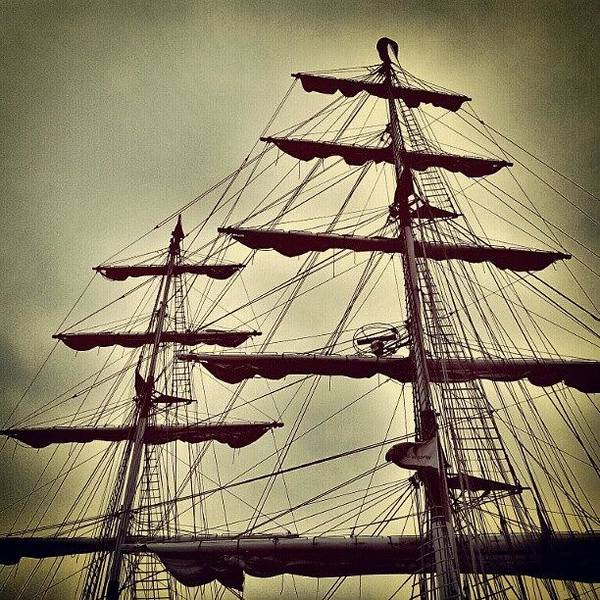 Norfolk Photograph - Ship Sales #sales #sky #clouds #wood by Invisible Man