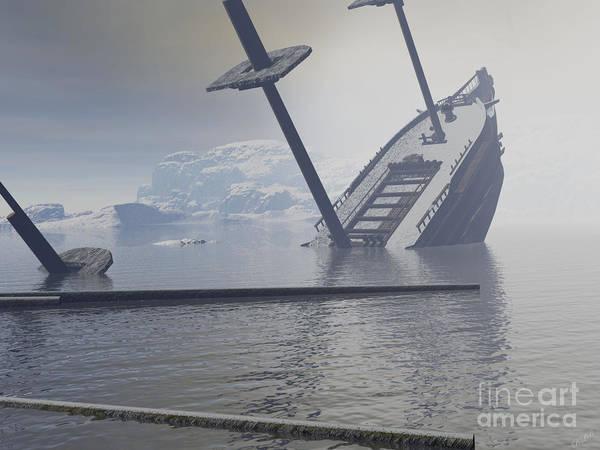 Aira Wall Art - Digital Art - Ship Wrecked by Tea Aira