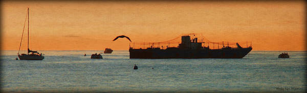 Photograph - Ships At Sunrise by Sheila Kay McIntyre
