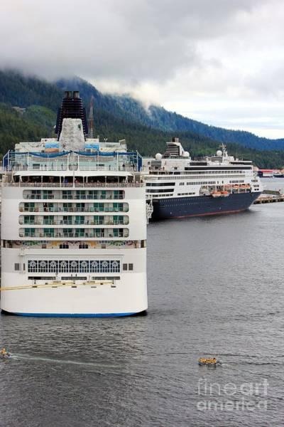 Ketchikan Photograph - Ships In Ketchikan Alaska by Sophie Vigneault