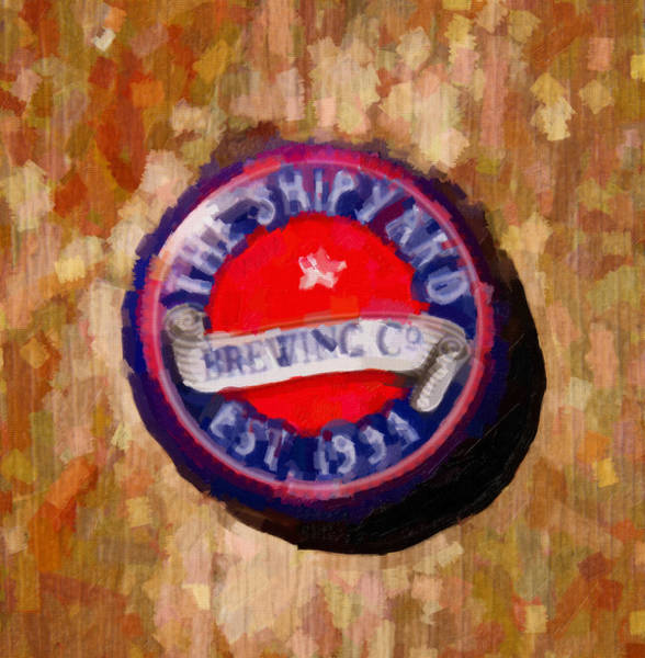Crown Imperial Painting - Shipyard Bottle Cap by David Renner