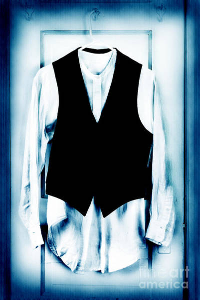 Mens Clothing Wall Art - Photograph - Shirt And Vest by HD Connelly