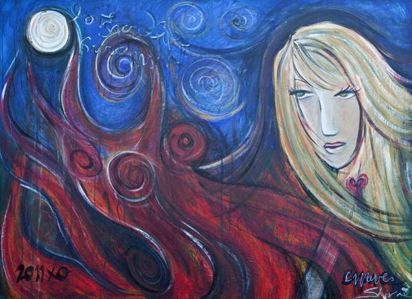 Painting - Shiva Rea's Sacred Fire by Laurie Maves ART