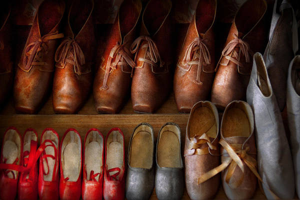 Photograph - Shoemaker - Shoes Worn In Life by Mike Savad