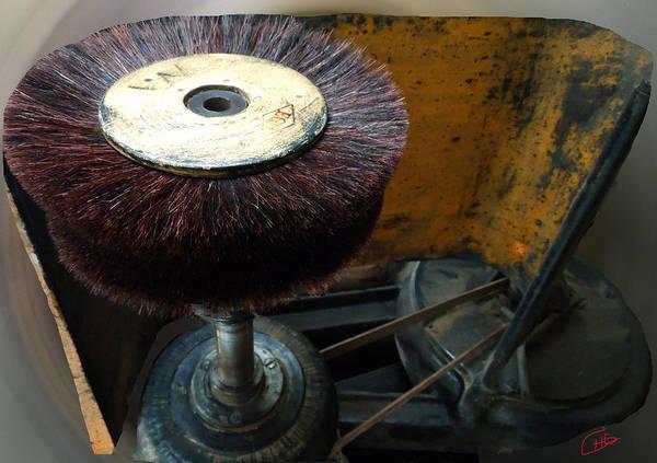 Photograph - Shoemaker Old Ancient Brush Machine by Colette V Hera  Guggenheim