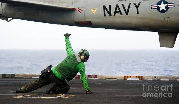 Prowler Photograph - Shooter Signals For The Launching Of An by Stocktrek Images