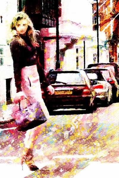 Wall Art - Digital Art - Shopping Girl by Andrea Barbieri
