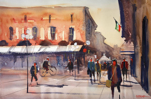 Wall Art - Painting - Shopping In Italy by Ryan Radke