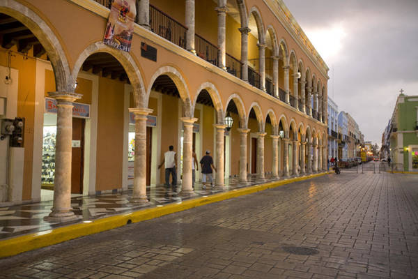 Campeche Photograph - Shops Along The Plaza Principal Open by Michael S. Lewis